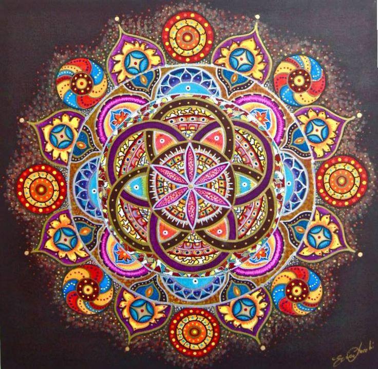 Le mandala atelier anim par brigitte angers l 39 imp ratrice - Mandala amour ...